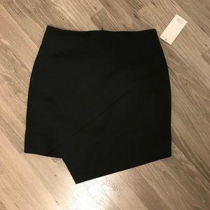 TOBI black wrap short skirt